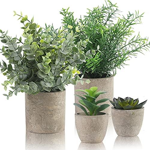 Alagirls 4 Stück Künstliche Pflanzen, Mini...