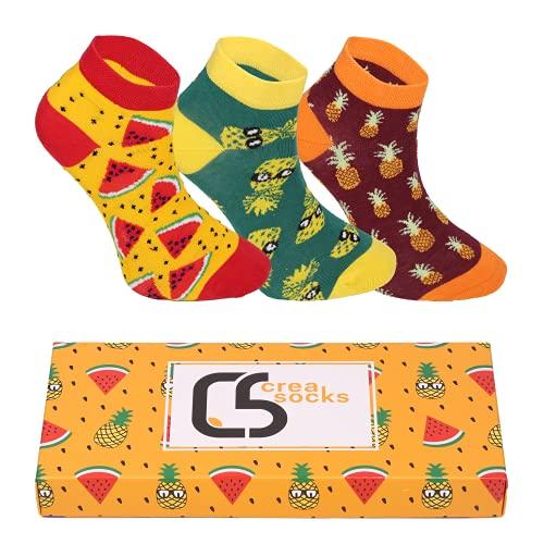 CREA SOCKS, 3 Paar Lustige Socken, Herren Lustige...