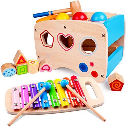 Rolimate Xylophon und Hammerspiel Spielzeug ab 1...