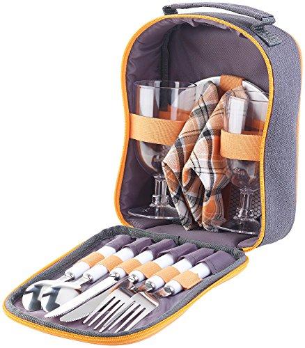 PEARL Picknick Geschirr: Picknick-Set für 2...