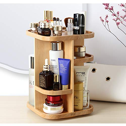 ILH Holzdreh Makeup Organizer Große Skin...