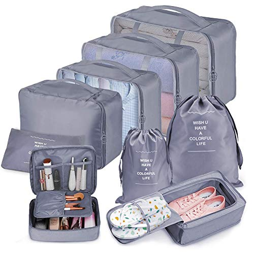 Bteng Packwürfel Set 9-teilige, Multifunktionale...