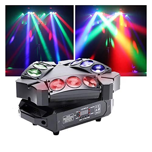 U'King Mini 9 Head Bird Disco-Licht 60W RGB Mini...
