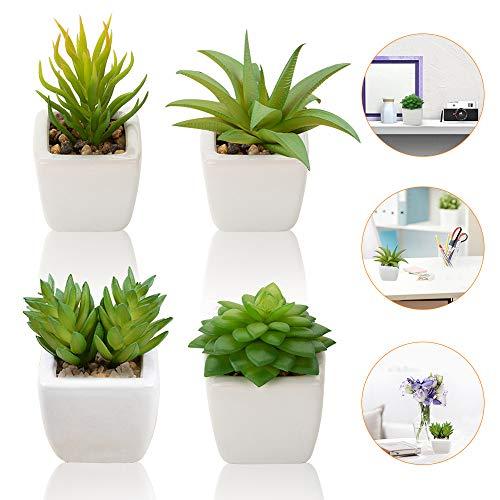 Künstliche Sukkulenten Pflanzen, 4 Stück Kleinen...