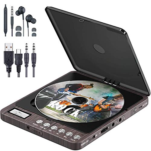 Tragbarer CD Player, Persönlicher Wiederaufladbar...