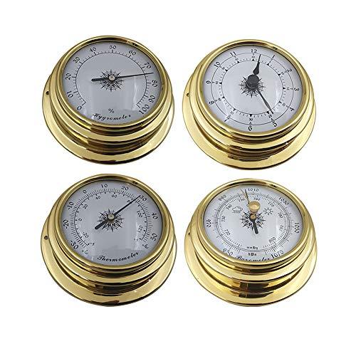 YIAI Wetterstation Set 4pcs Wand Barometer Uhr...