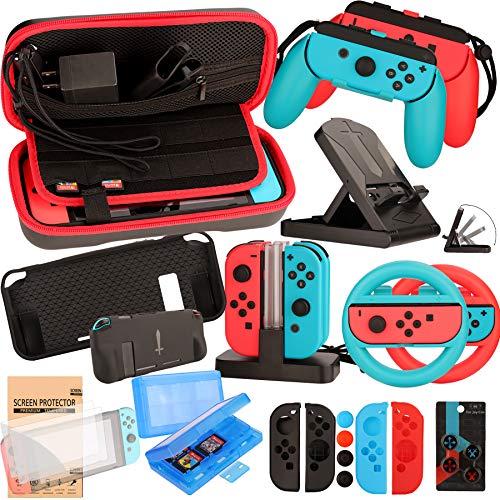 Nintendo Switch Zubehör Set - Tragetasche Hülle...