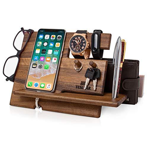 Holz Telefon Dockingstation Walnussbaum...