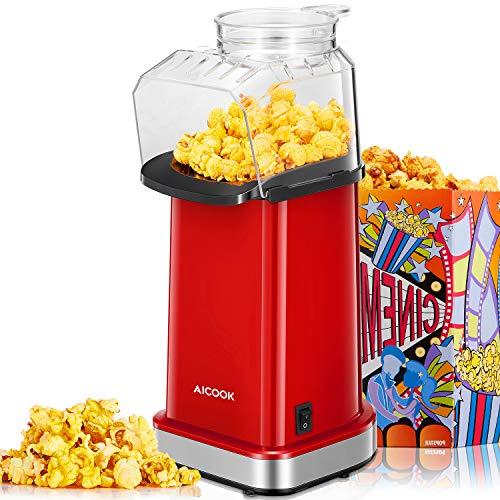 Popcornmaschine, 1400W Automatische Popcorn Maker...