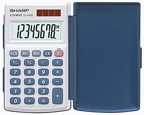 Sharp EL-243S Taschenrechner (Solar- und...