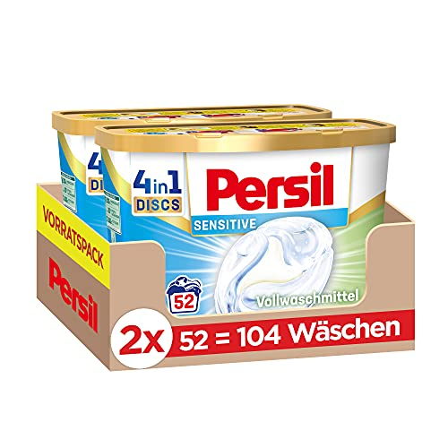 Persil Sensitive 4in1 DISCS (104 Waschladungen),...