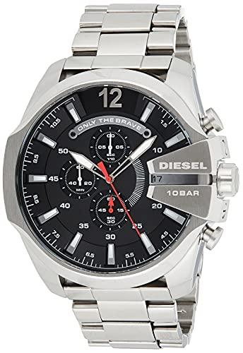 Diesel Herren Chronograph Quarz Uhr mit Edelstahl...