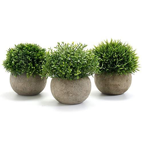 GoMaihe Kunstpflanze 3 Stücke Künstliche Pflanze...