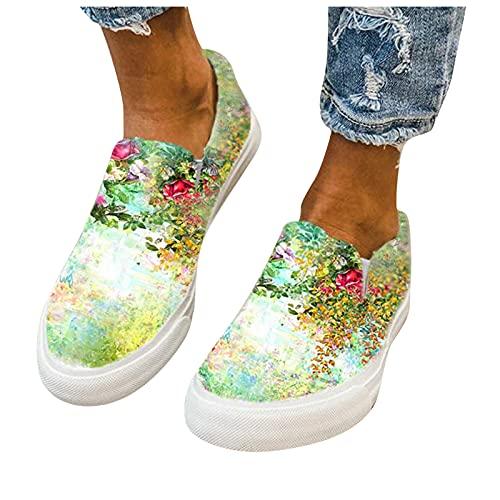 BIBOKAOKE Loafers Damen Casual Summer Slip On...