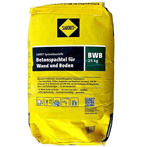 25 Kg Sack SAKRET Betonspachtel BWB für Wand und...