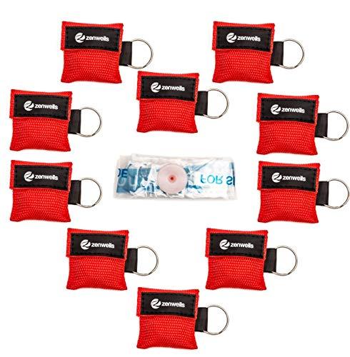 Beatmungsmaske Schlüsselanhänger 10 Stück (rot)...