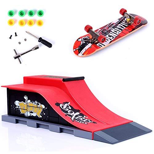 Mini Finger Skateboard Deck Truck Board mit Rampe...