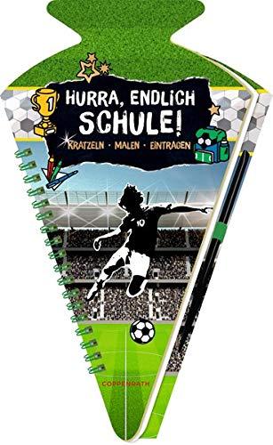 Schultüten-Kratzelbuch - Fußball - Hurra,...