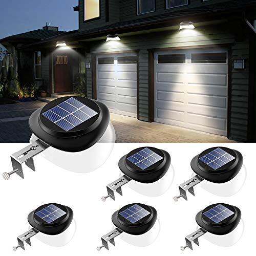 JSOT Solarlampen für Außen, 9 LED Dachrinnen...