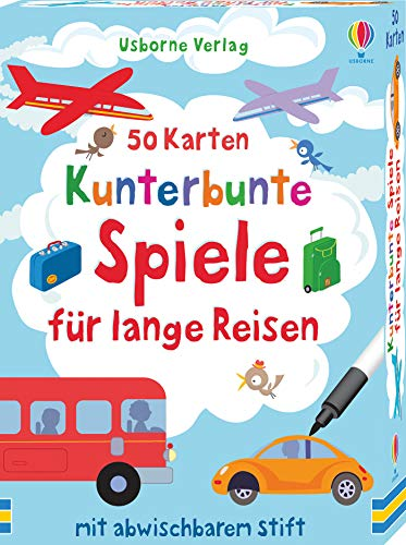 50 Karten: Kunterbunte Spiele für lange Reisen:...