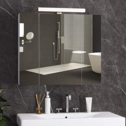 DICTAC spiegelschrank Bad mit LED...