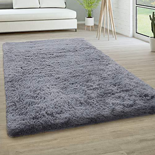 Paco Home Hochflor Teppich Wohnzimmer Fellteppich...