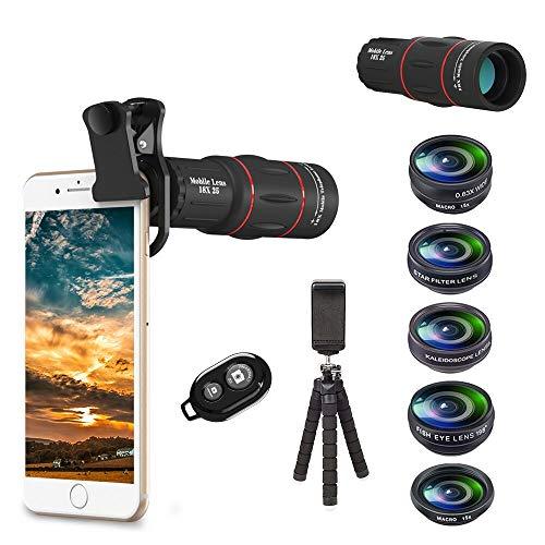 APEXEL 8 in 1 Telefon Kamera Objektiv Kit 18X Tele...