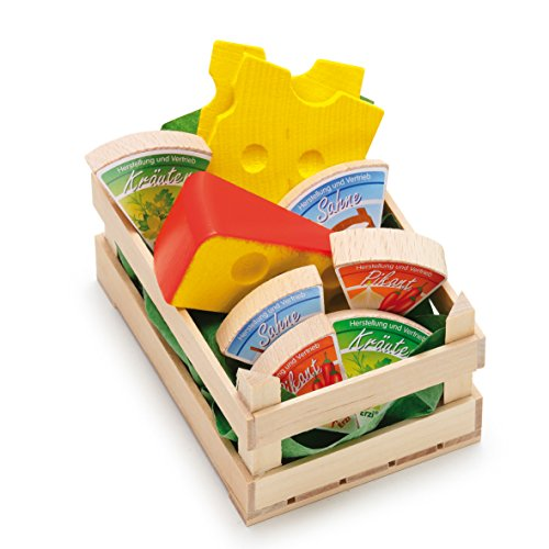 Erzi 28236 Sortiment Käse, klein aus Holz,...