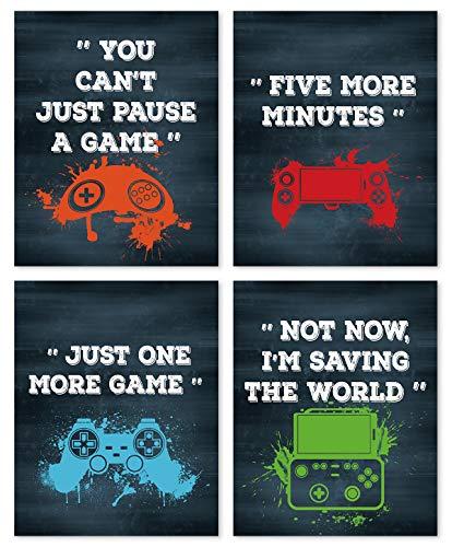 4er Set Gaming Poster,Bilder für Gamer,Videospiel...