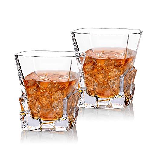 Cooko Iceberg Whisky Gläser, Kristallglas Whiskey...