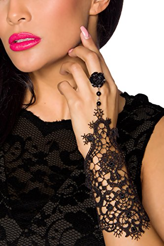 Gothik Handstulpe 1 Stück mit Spitze One Size...