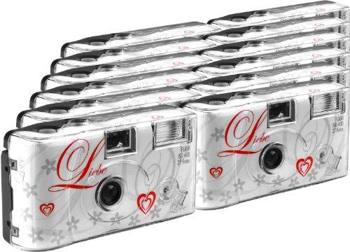 TopShot Love weiss Einwegkamera / Hochzeitskamera...