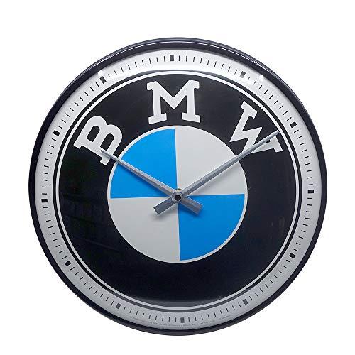 Nostalgic-Art Retro Wanduhr BMW – Logo –...