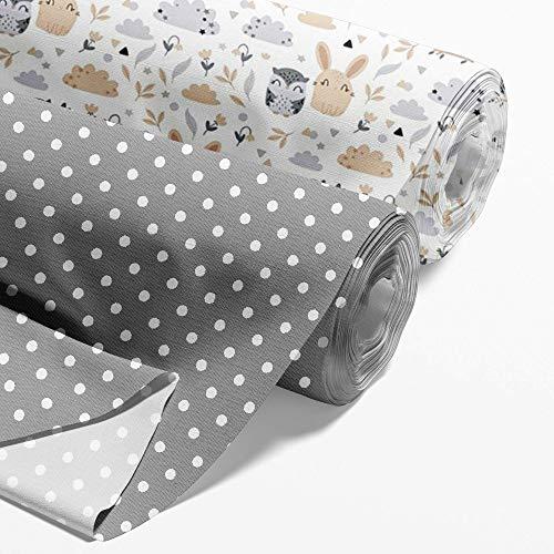 Baumwollstoff Meterware Stoff aus Baumwolle Set 2...