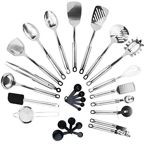 KRONENKRAFT® 26 teiliges Küchenset aus Edelstahl...