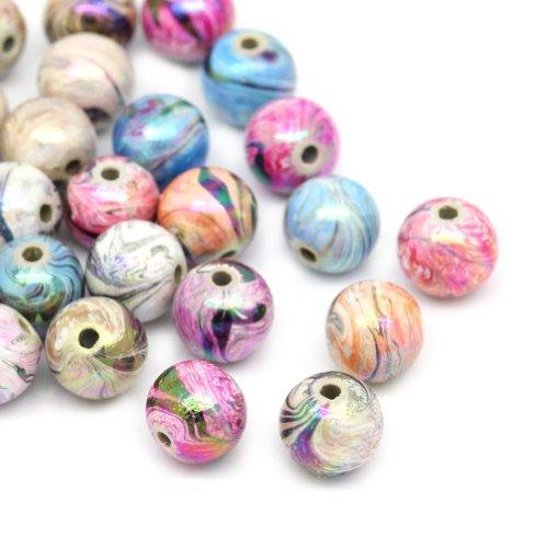 HOUSWEETY 300 Mix Mehrfarbig Kugeln Acryl Floral...