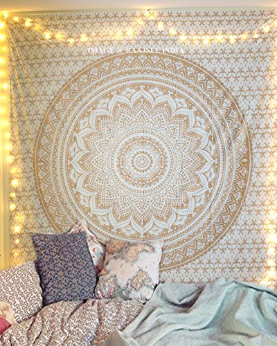 raajsee Indisch Psychedelic Wandteppich Mandala...