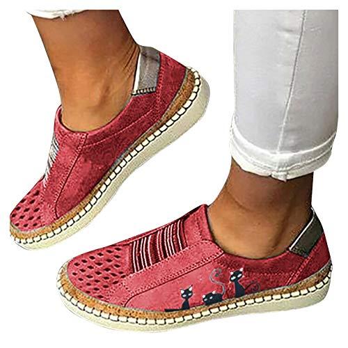 BIBOKAOKE Sneakers Damen Lässige Flache...