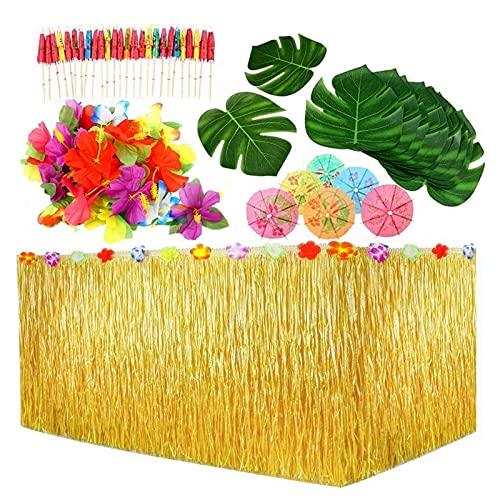 109 Stück Hawaii Tischröcke Party Deko Party...