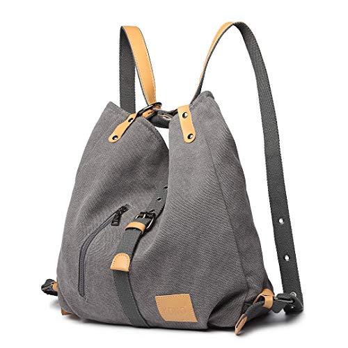 Kono Damen Canvas Handtasche Rucksack Frauen...