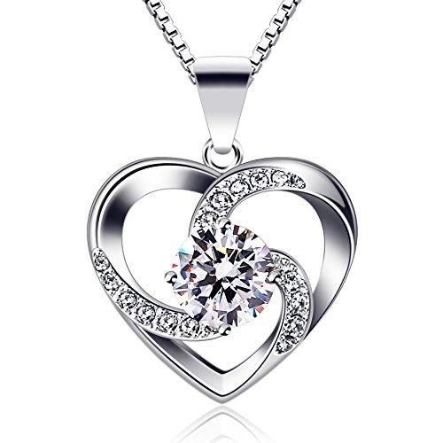 B.Catcher Kette Herz Damen Halskette 925 Sterling...