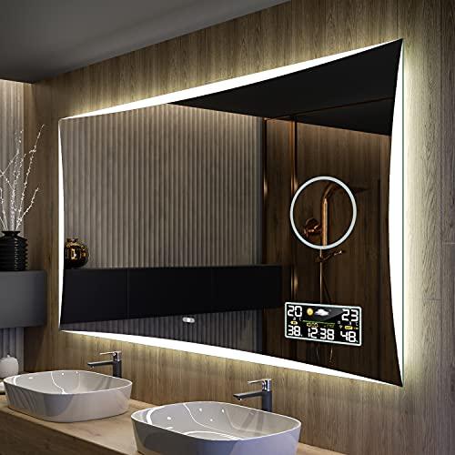 Artforma Badspiegel 120x60 cm mit LED Beleuchtung...
