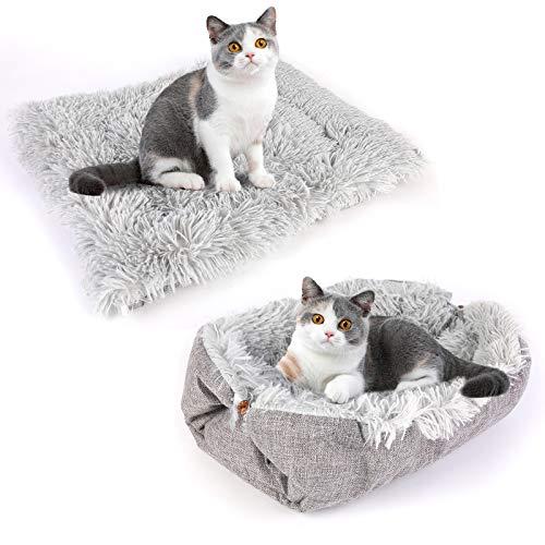 NIBESSER Katzenbett Waschbare 2 in 1 Katzenbett...