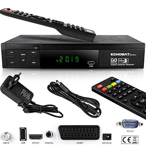 Echosat HDMI SCART HD Receiver Satellit DVB S2 HD...