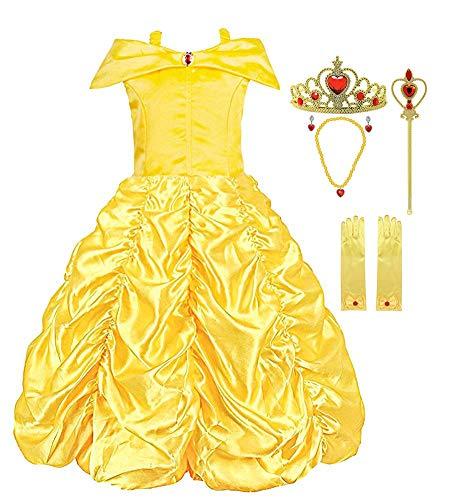 KABETY Mädchen Kleider Prinzessin Kleid Belle...