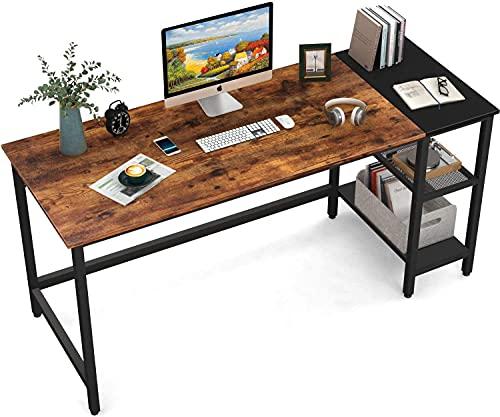 HOMIDEC Schreibtisch, Computertisch PC Tisch mit 3...
