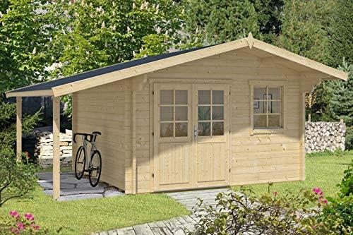 Alpholz Gartenhaus Franco Premium aus Massiv-Holz...