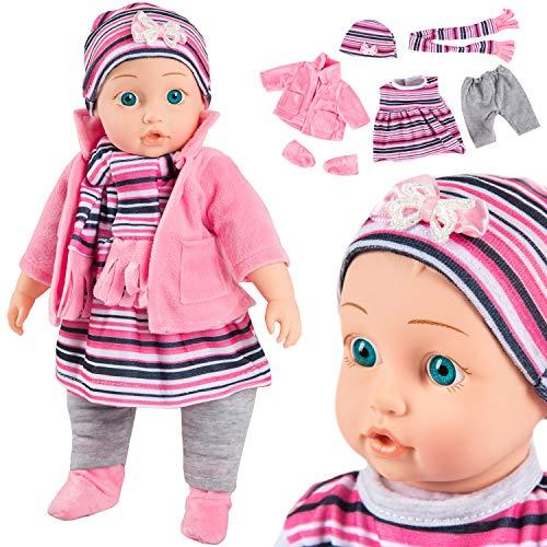 Kinderplay Babypuppe Interaktive Spielpuppe...