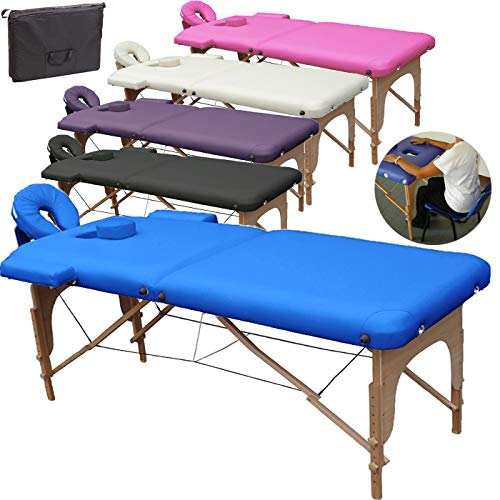 Mobile Massagetisch Massageliege Massagebank 2...