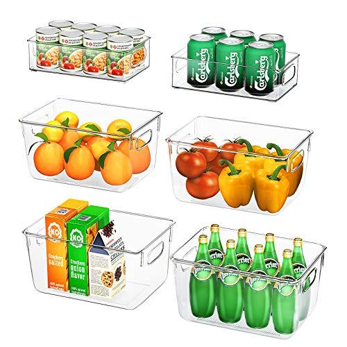 FINEW Kühlschrank Organizer 6er Set (4 Große/2...